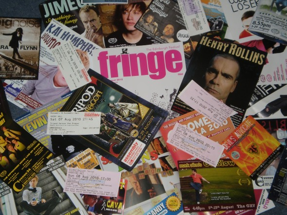 Fringe fliers, tickets, booklets