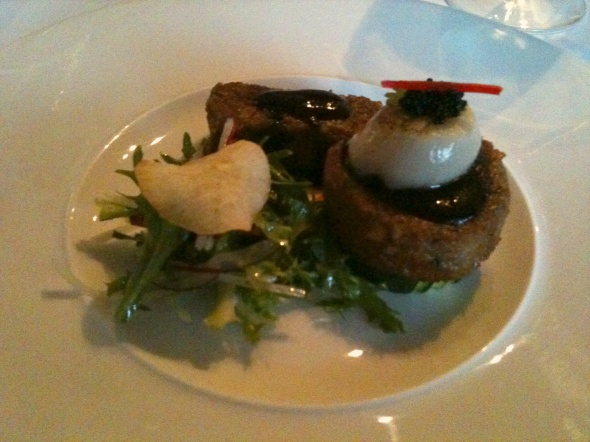 Lamb and scallop from Nine Fine Food